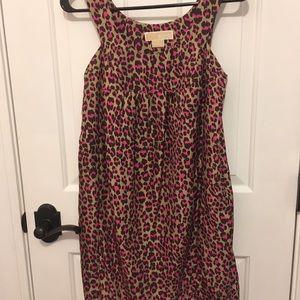 Michael Kors pink cheetah print dress